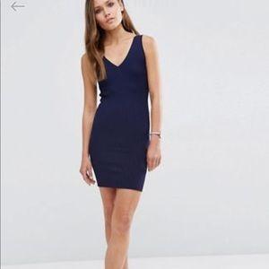 ASOS petite V neck dress
